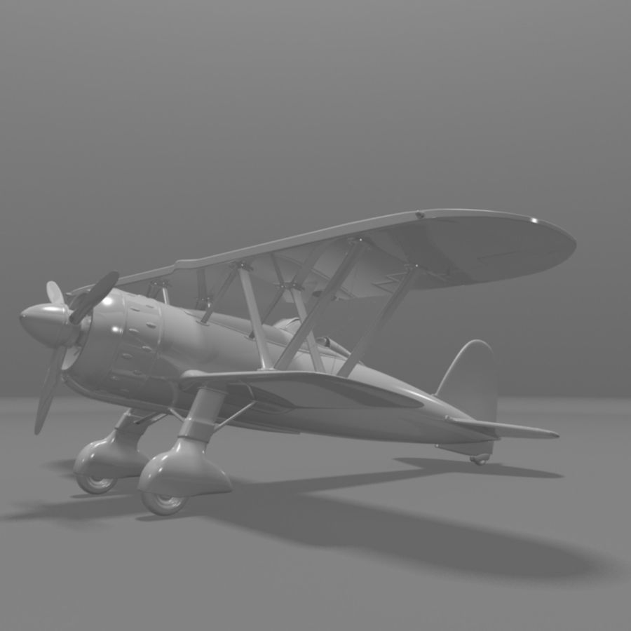 Fiat CR42 Falco Fighter Bi-Plane royalty-free 3d model - Preview no. 9