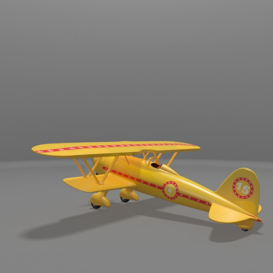 Fiat CR42 Falco Fighter Bi-Plane royalty-free 3d model - Preview no. 13