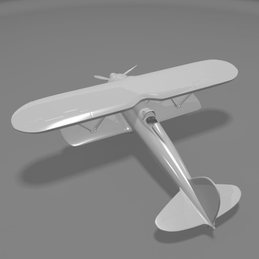 Fiat CR42 Falco Fighter Bi-Plane royalty-free 3d model - Preview no. 8