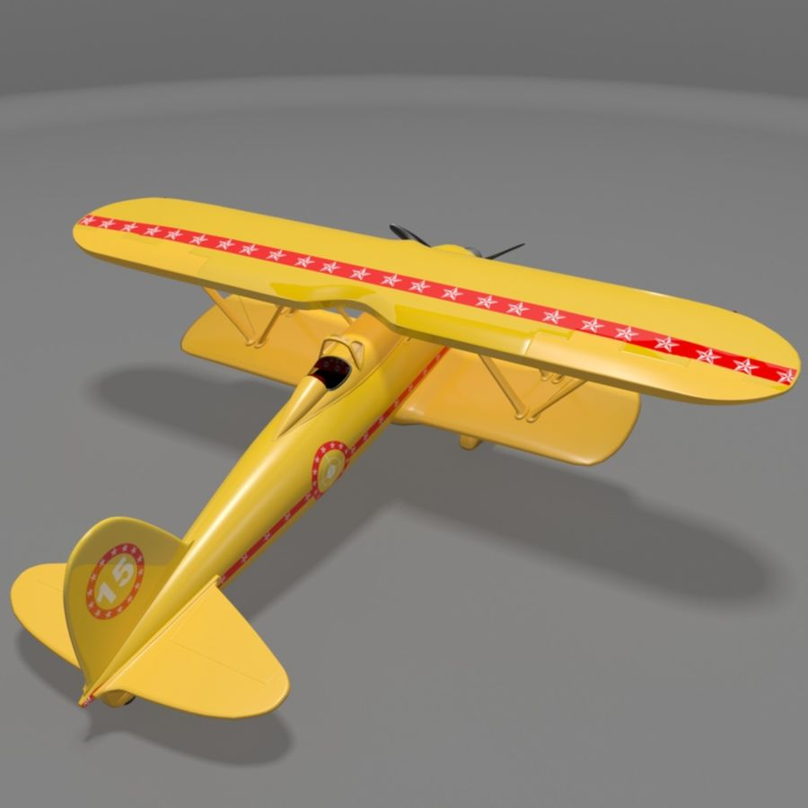 Fiat CR42 Falco Fighter Bi-Plane royalty-free 3d model - Preview no. 3