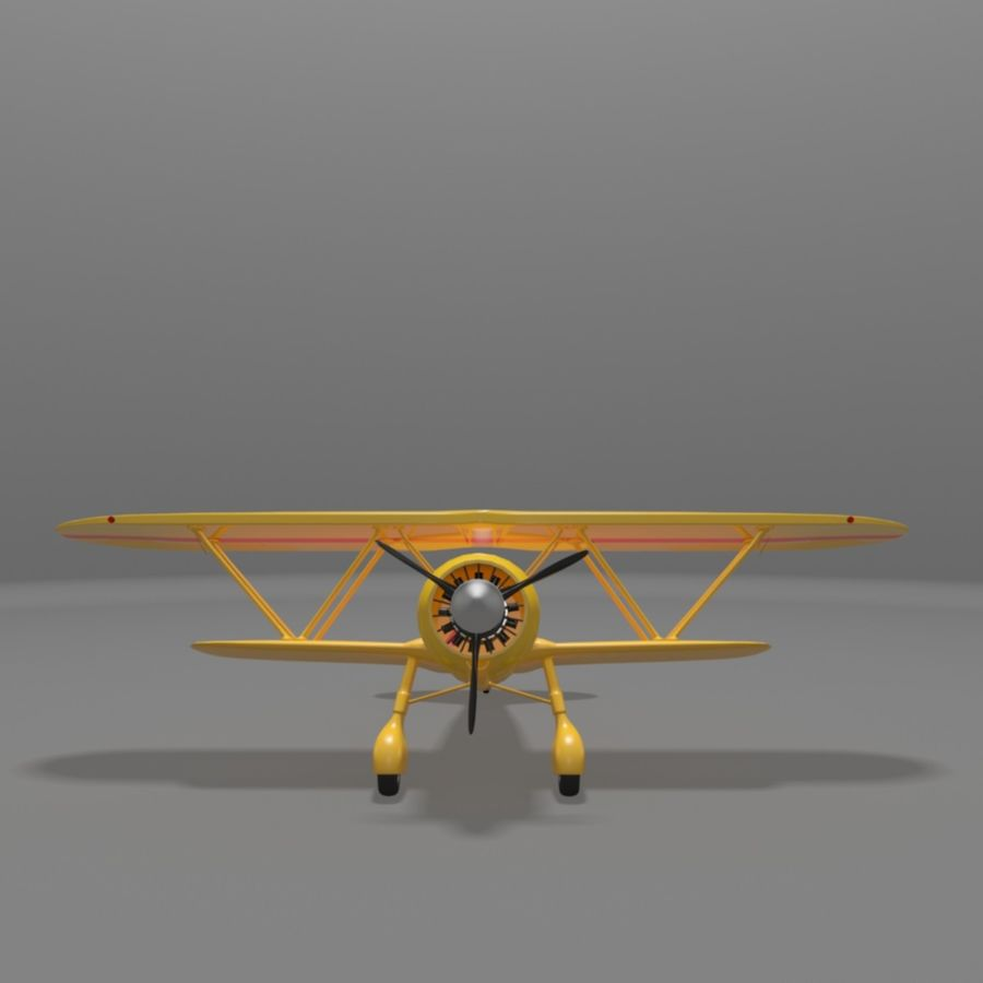 Fiat CR42 Falco Fighter Bi-Plane royalty-free 3d model - Preview no. 10
