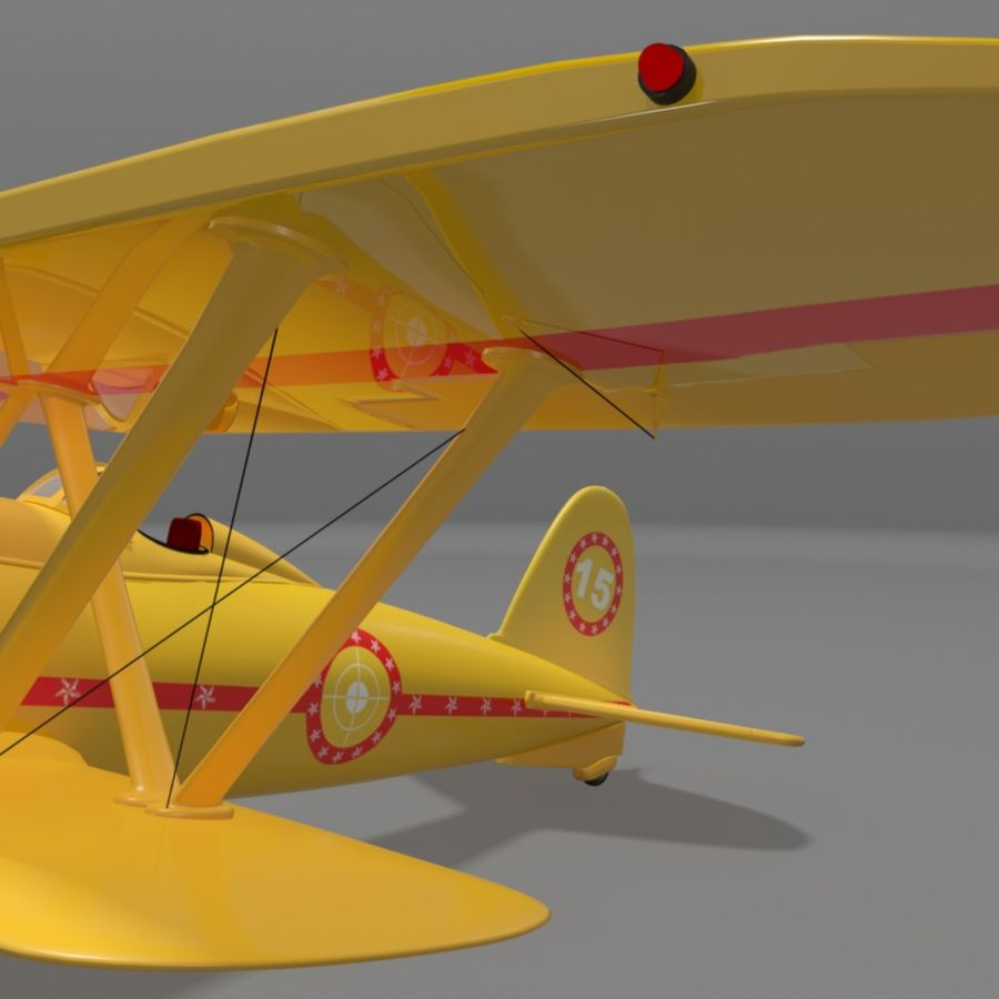 Fiat CR42 Falco Fighter Bi-Plane royalty-free 3d model - Preview no. 6