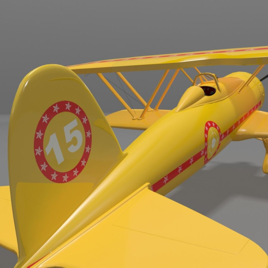 Fiat CR42 Falco Fighter Bi-Plane royalty-free 3d model - Preview no. 5