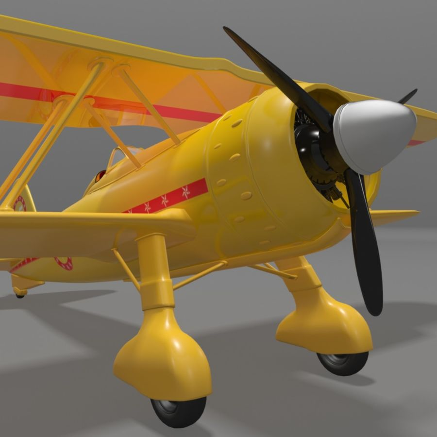 Fiat CR42 Falco Fighter Bi-Plane royalty-free 3d model - Preview no. 7