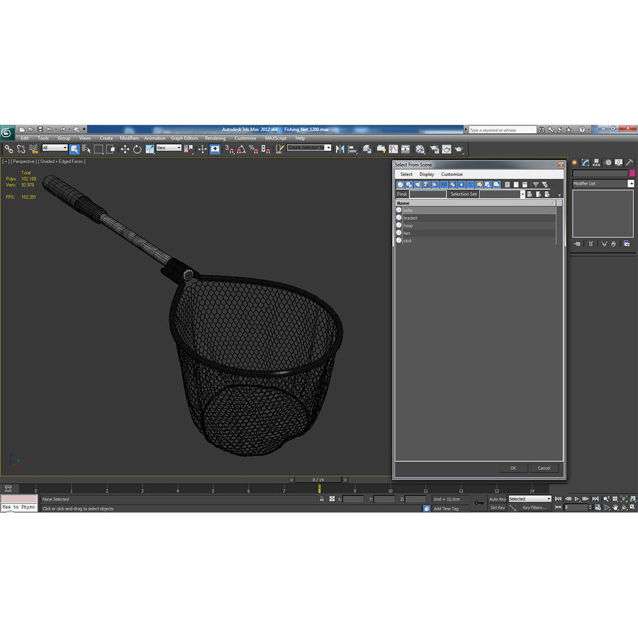 Fishing Net royalty-free 3d model - Preview no. 20