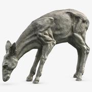 年轻的鹿雕塑 3d model