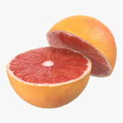 Sección transversal de pomelo 2 modelo 3d