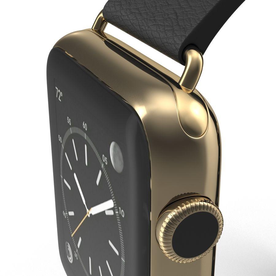 Apple Watch Classic Пряжка Черная Кожа 2 royalty-free 3d model - Preview no. 17