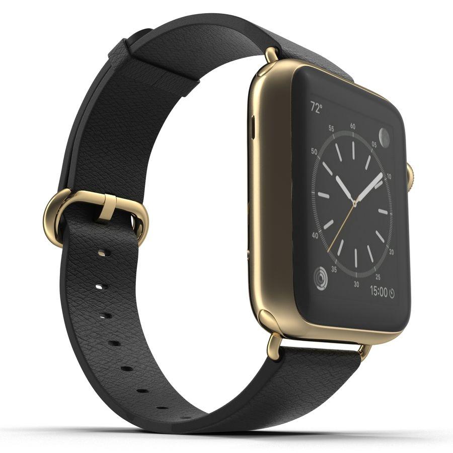 Apple Watch Classic Пряжка Черная Кожа 2 royalty-free 3d model - Preview no. 8