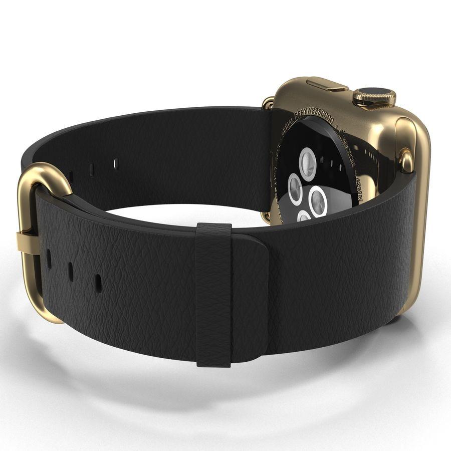 Apple Watch Classic Пряжка Черная Кожа 2 royalty-free 3d model - Preview no. 12