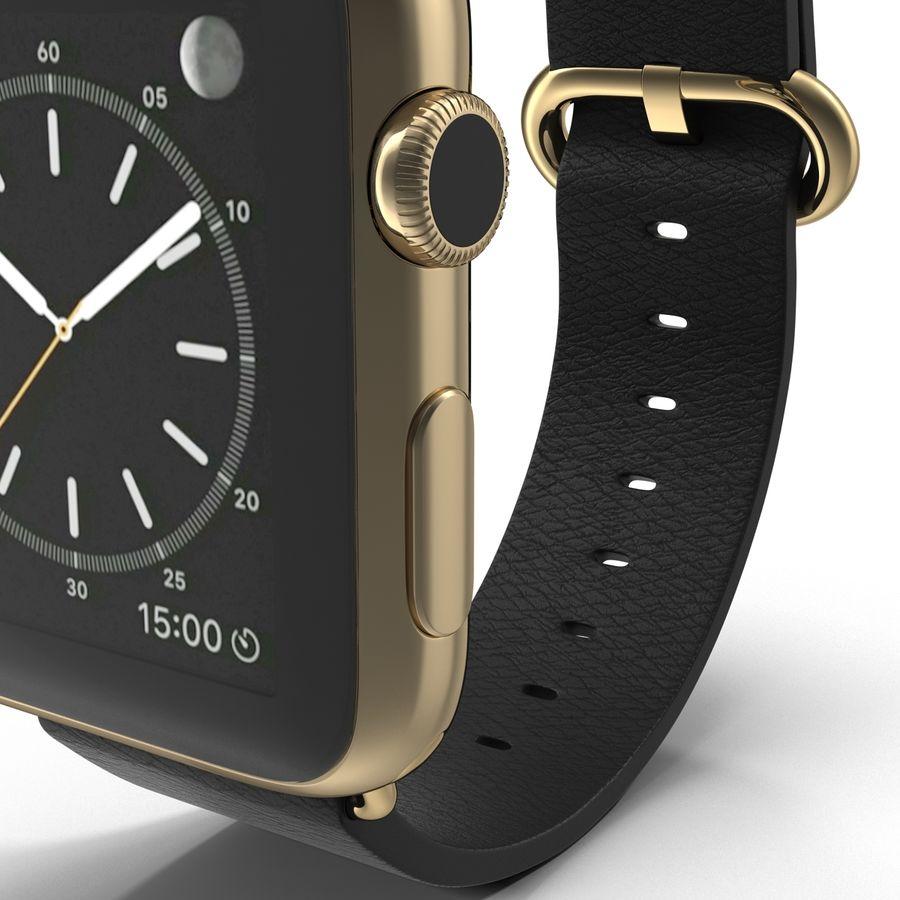 Apple Watch Classic Пряжка Черная Кожа 2 royalty-free 3d model - Preview no. 14