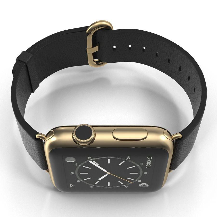 Apple Watch Classic Пряжка Черная Кожа 2 royalty-free 3d model - Preview no. 10