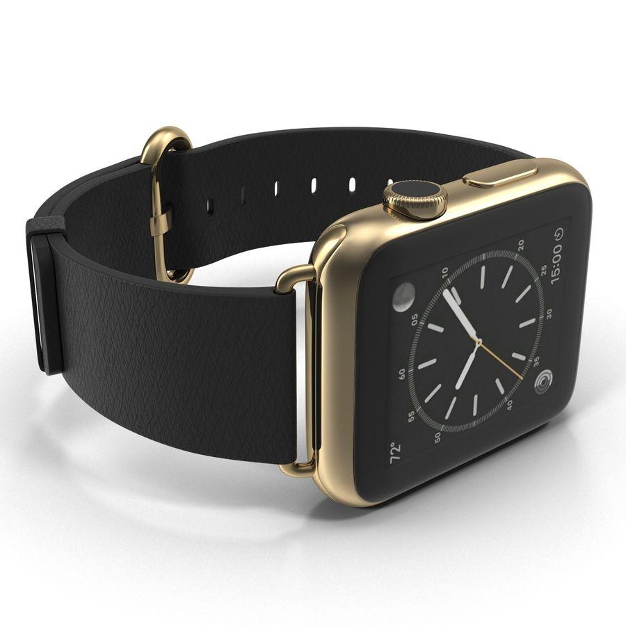 Apple Watch Classic Пряжка Черная Кожа 2 royalty-free 3d model - Preview no. 13