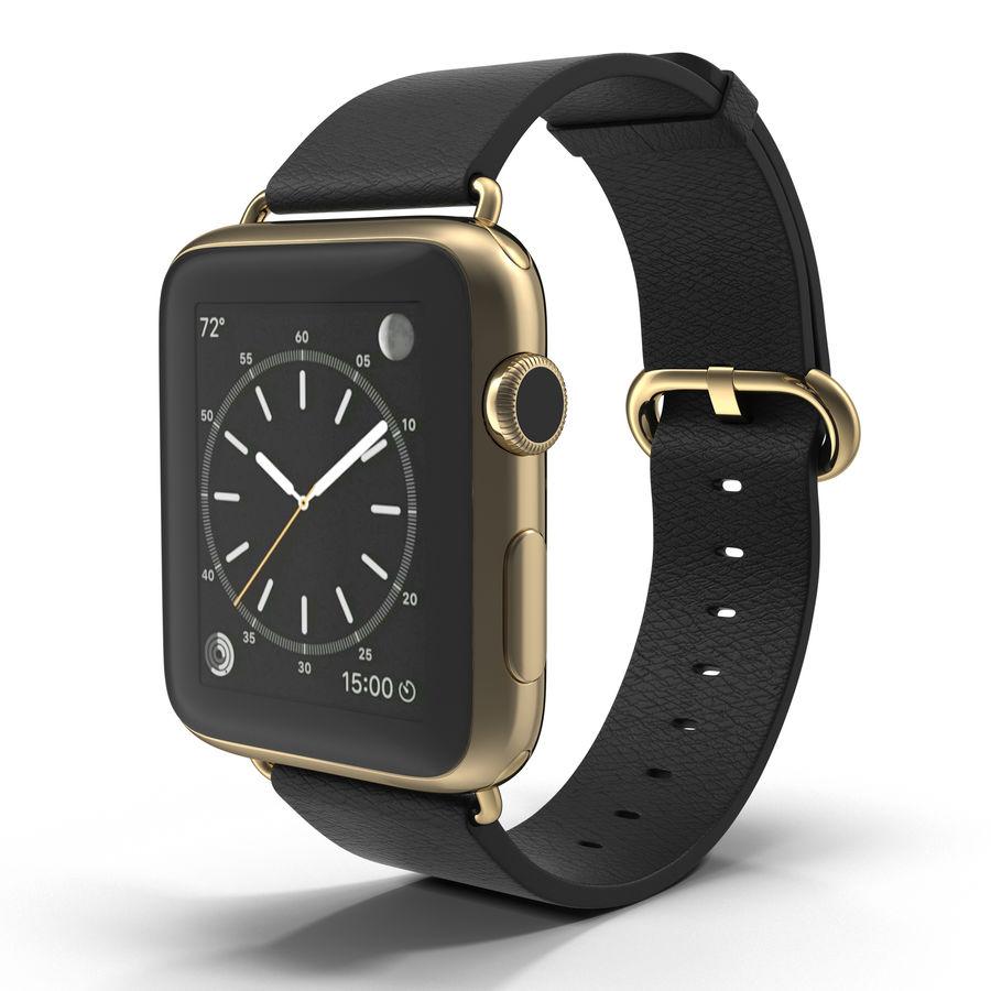 Apple Watch Classic Пряжка Черная Кожа 2 royalty-free 3d model - Preview no. 2