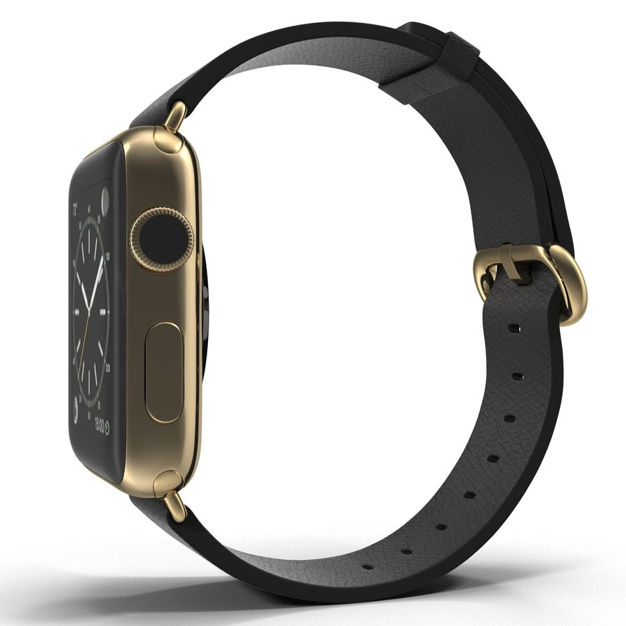 Apple Watch Classic Пряжка Черная Кожа 2 royalty-free 3d model - Preview no. 4