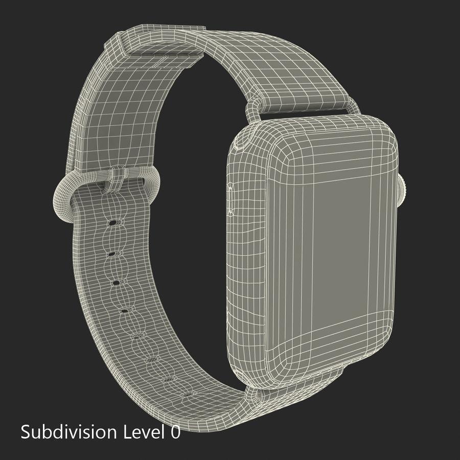 Apple Watch Classic Пряжка Черная Кожа 2 royalty-free 3d model - Preview no. 19