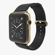 Apple Watch Classic Buckle Black Leather 2 3d model