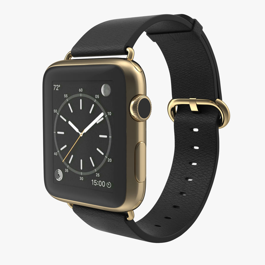 Apple Watch Classic Пряжка Черная Кожа 2 royalty-free 3d model - Preview no. 1