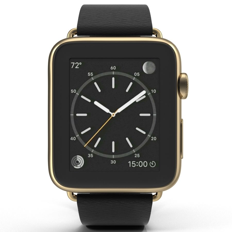 Apple Watch Classic Пряжка Черная Кожа 2 royalty-free 3d model - Preview no. 3