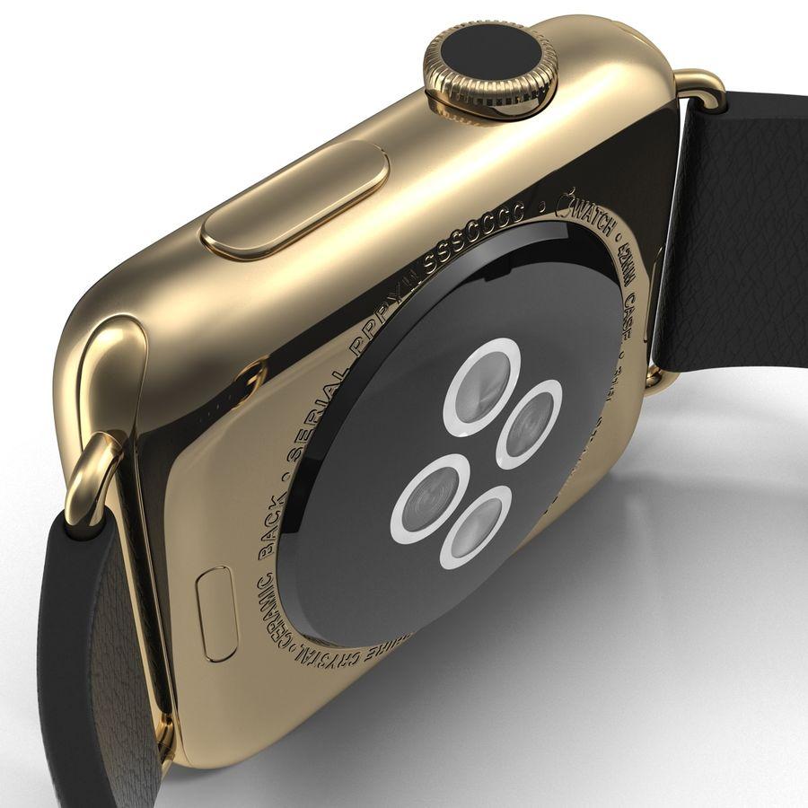 Apple Watch Classic Пряжка Черная Кожа 2 royalty-free 3d model - Preview no. 18