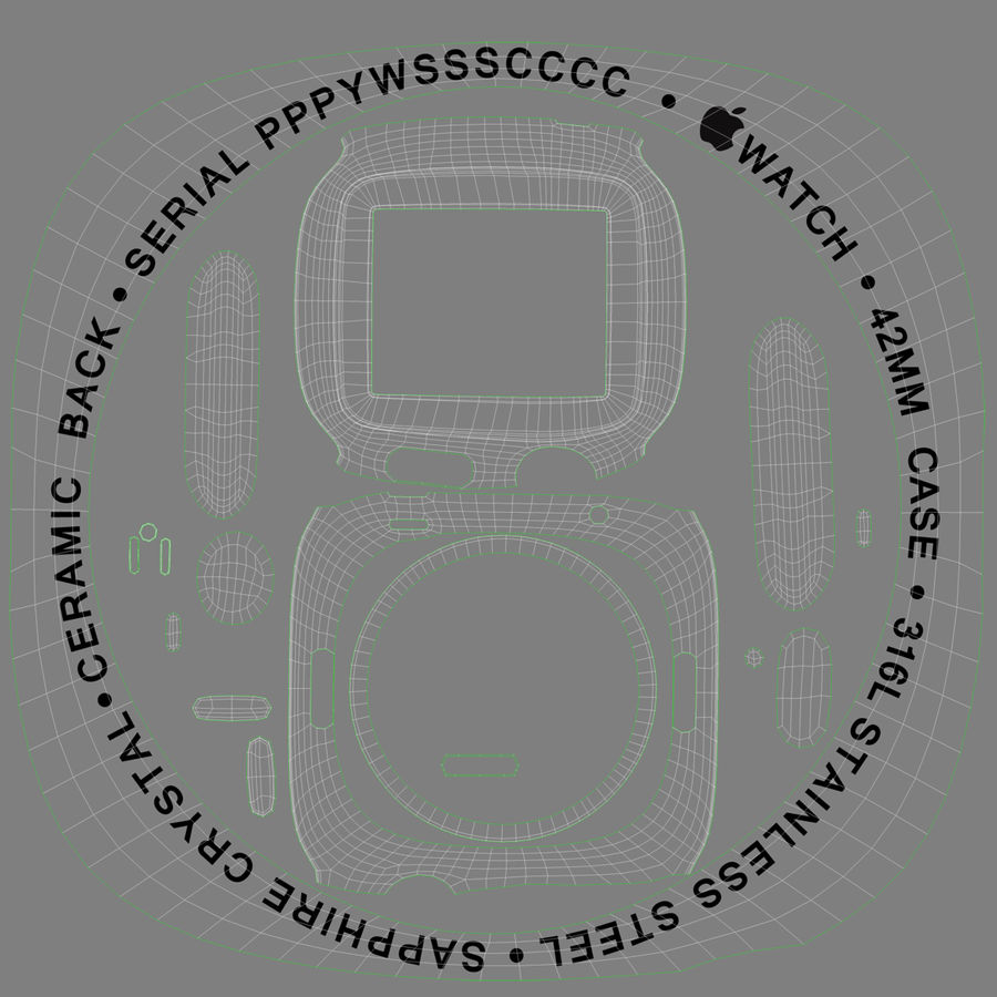 Apple Watch Classic Пряжка Черная Кожа 2 royalty-free 3d model - Preview no. 24