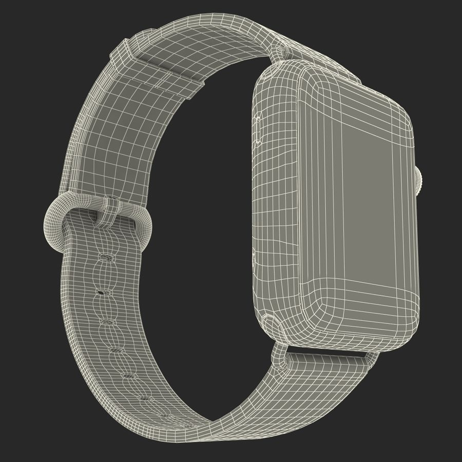 Apple Watch Classic Пряжка Черная Кожа 2 royalty-free 3d model - Preview no. 29
