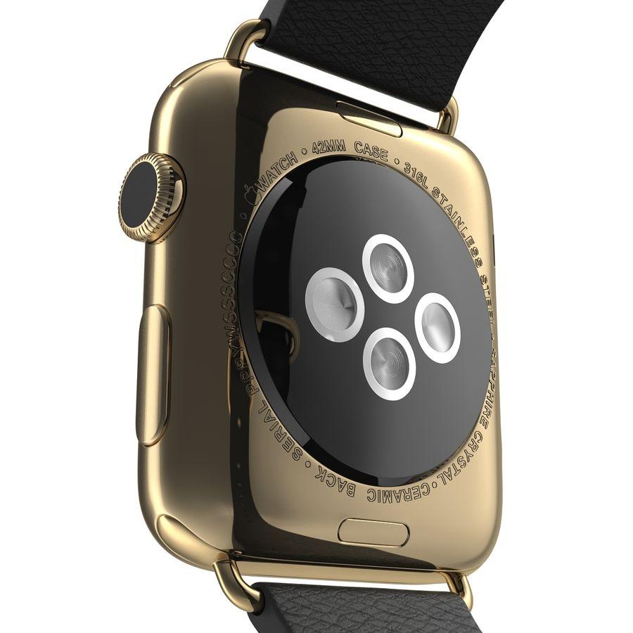 Apple Watch Classic Пряжка Черная Кожа 2 royalty-free 3d model - Preview no. 15