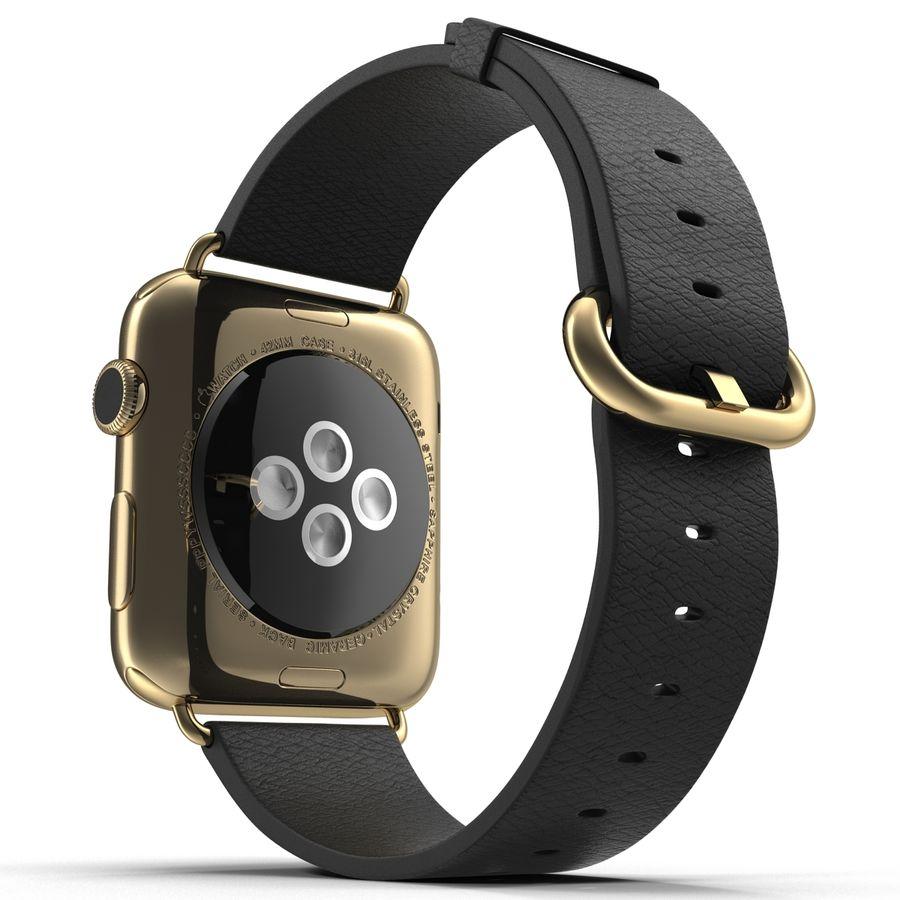 Apple Watch Classic Пряжка Черная Кожа 2 royalty-free 3d model - Preview no. 9