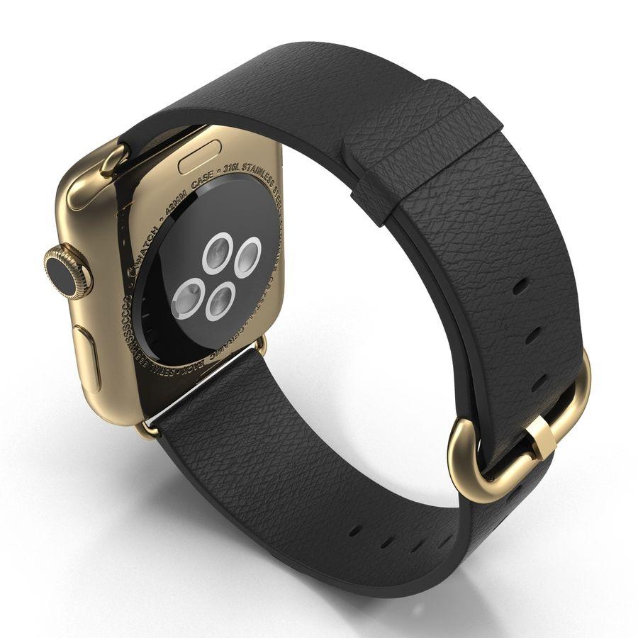 Apple Watch Classic Пряжка Черная Кожа 2 royalty-free 3d model - Preview no. 5