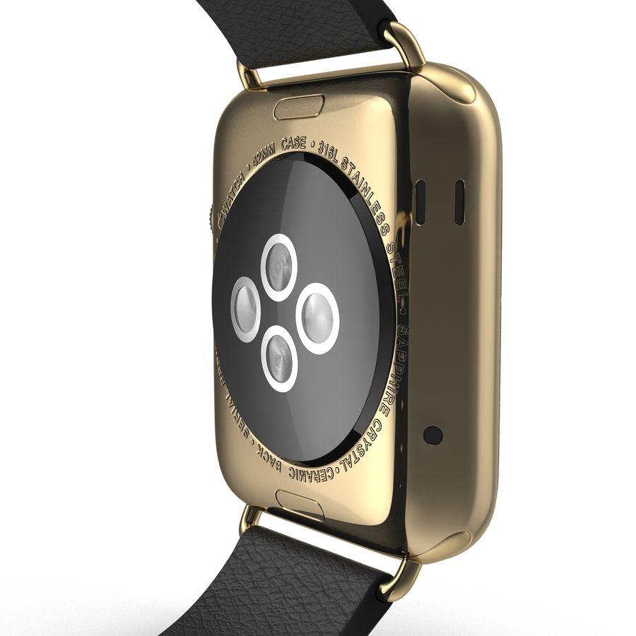 Apple Watch Classic Пряжка Черная Кожа 2 royalty-free 3d model - Preview no. 16