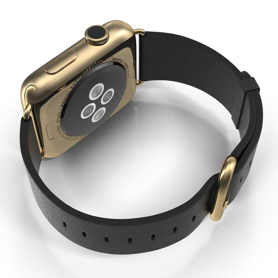Apple Watch Classic Пряжка Черная Кожа 2 royalty-free 3d model - Preview no. 11