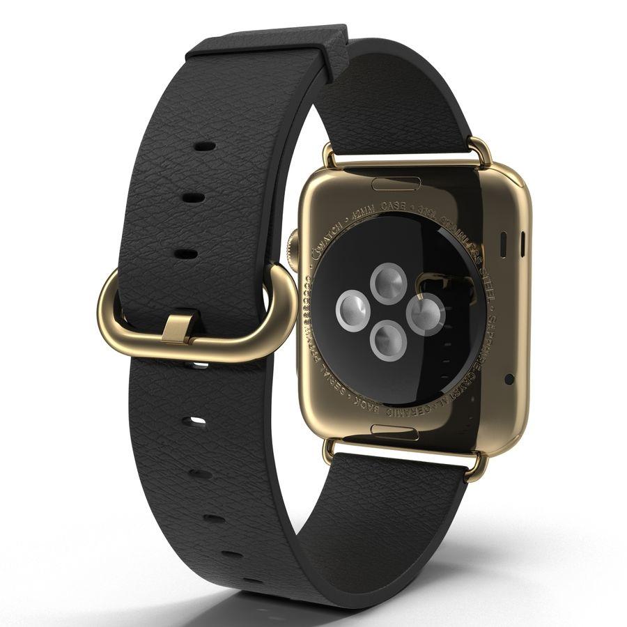 Apple Watch Classic Пряжка Черная Кожа 2 royalty-free 3d model - Preview no. 6