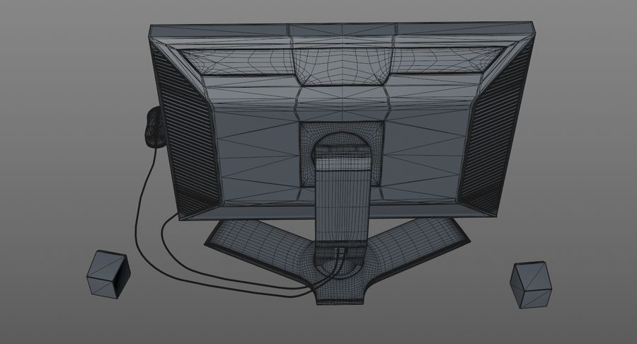 Computer Monitor royalty-free 3d model - Preview no. 12