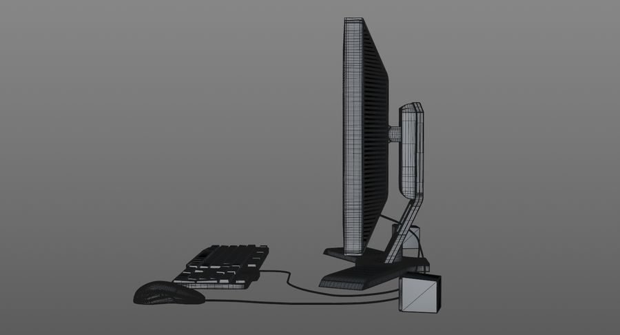 Computer Monitor royalty-free 3d model - Preview no. 10
