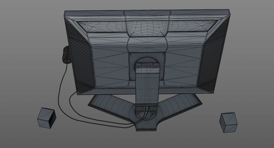 Schermo del computer royalty-free 3d model - Preview no. 12