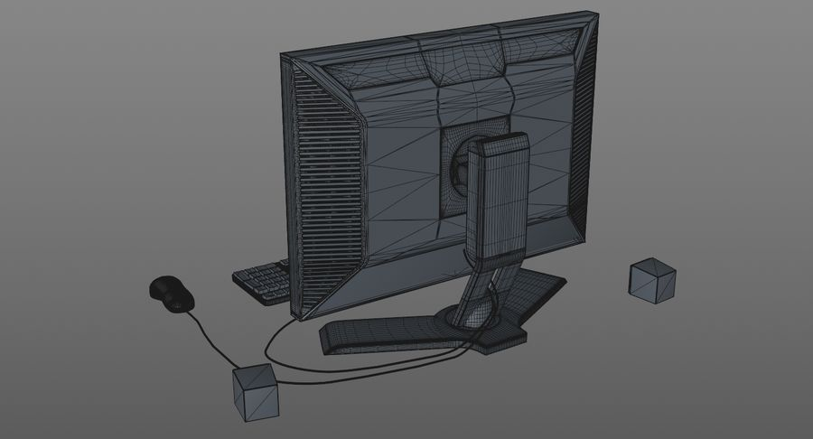 Computer Monitor royalty-free 3d model - Preview no. 11