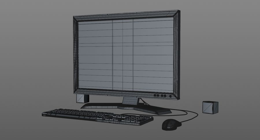 Computer Monitor royalty-free 3d model - Preview no. 9