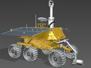 玉ウサギムーンローバー 3d model