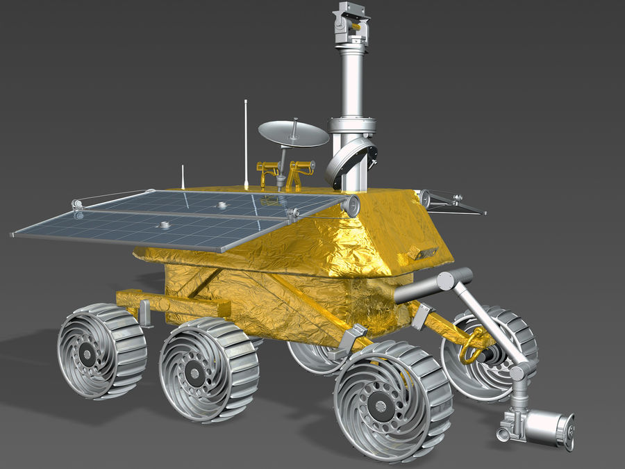 Jade Rabbit Moon Rover royalty-free 3d model - Preview no. 1