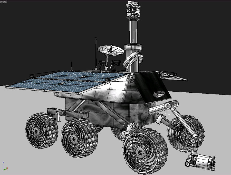 Jade Rabbit Moon Rover royalty-free 3d model - Preview no. 5