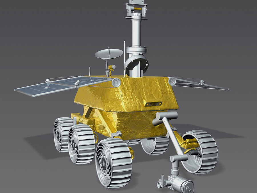 Jade Rabbit Moon Rover royalty-free 3d model - Preview no. 2