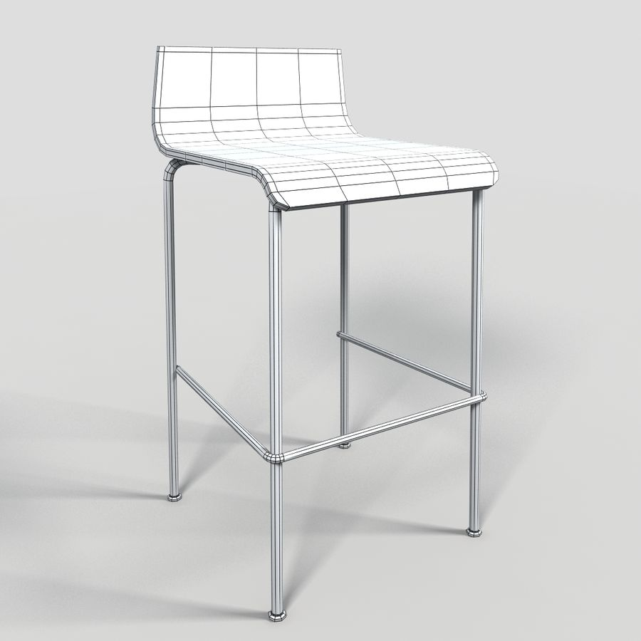 Bar Stool 28 royalty-free 3d model - Preview no. 7