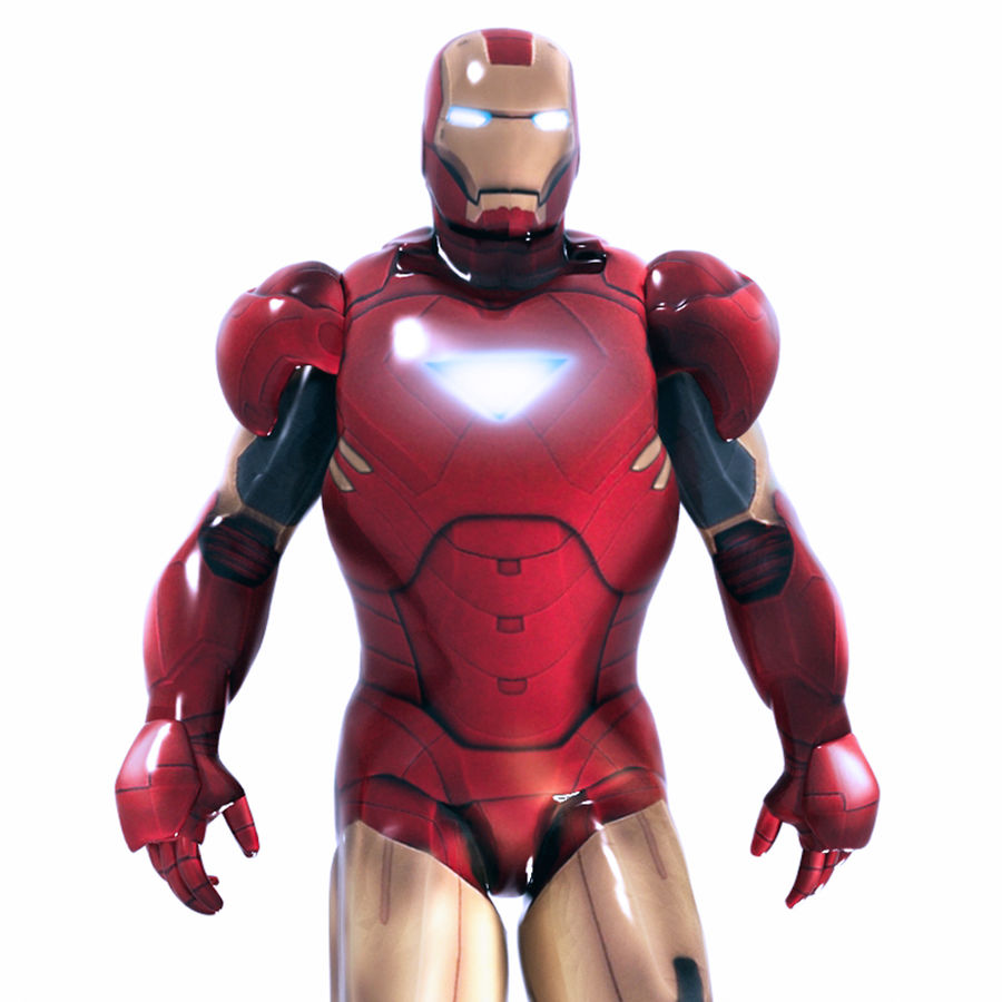 Ironman royalty-free 3d model - Preview no. 9