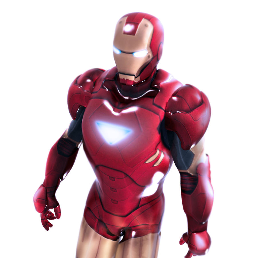 Ironman royalty-free 3d model - Preview no. 3
