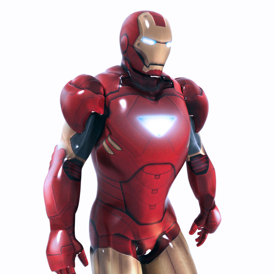 Ironman royalty-free 3d model - Preview no. 7