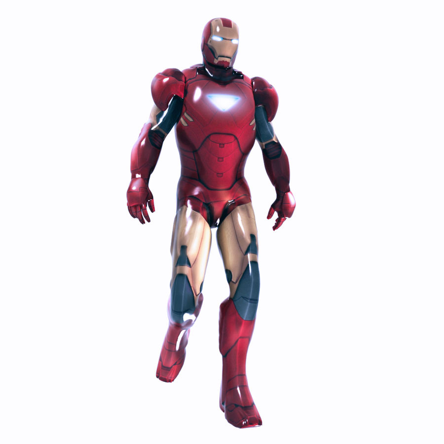 Ironman royalty-free 3d model - Preview no. 8