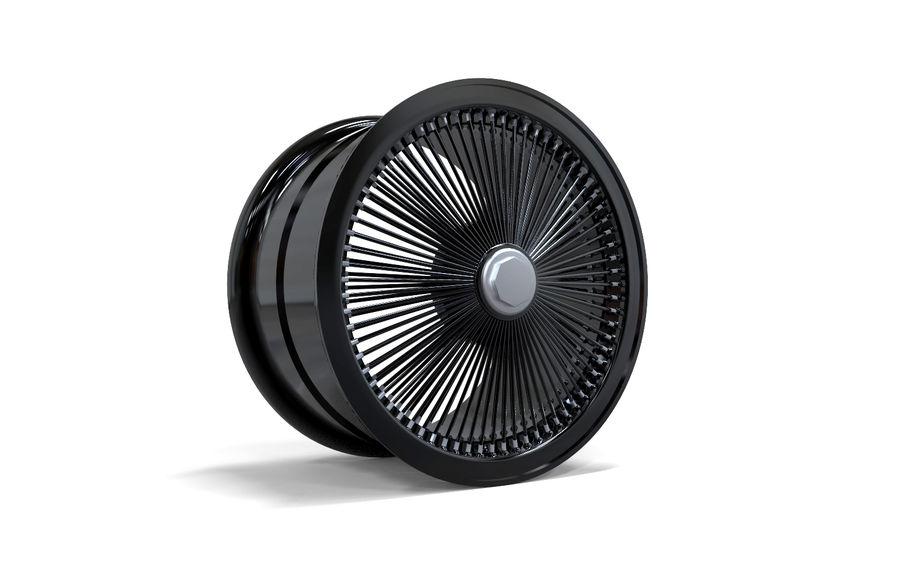 ブラックホイールデイトン royalty-free 3d model - Preview no. 5