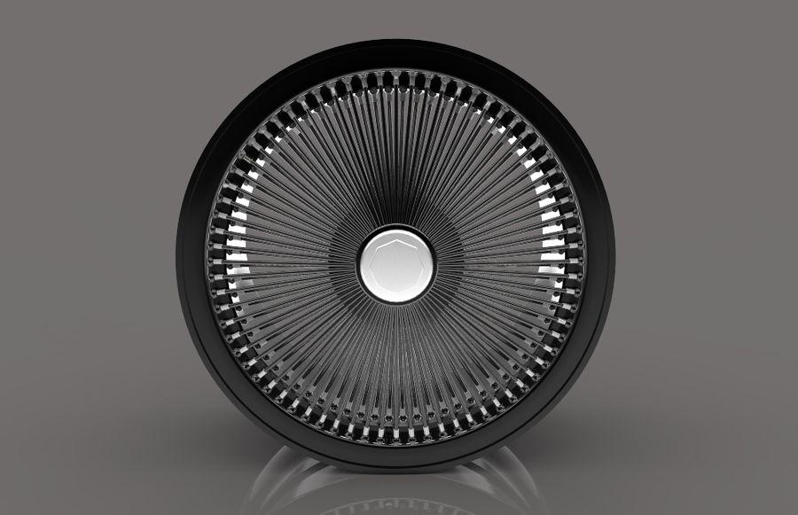 ブラックホイールデイトン royalty-free 3d model - Preview no. 9