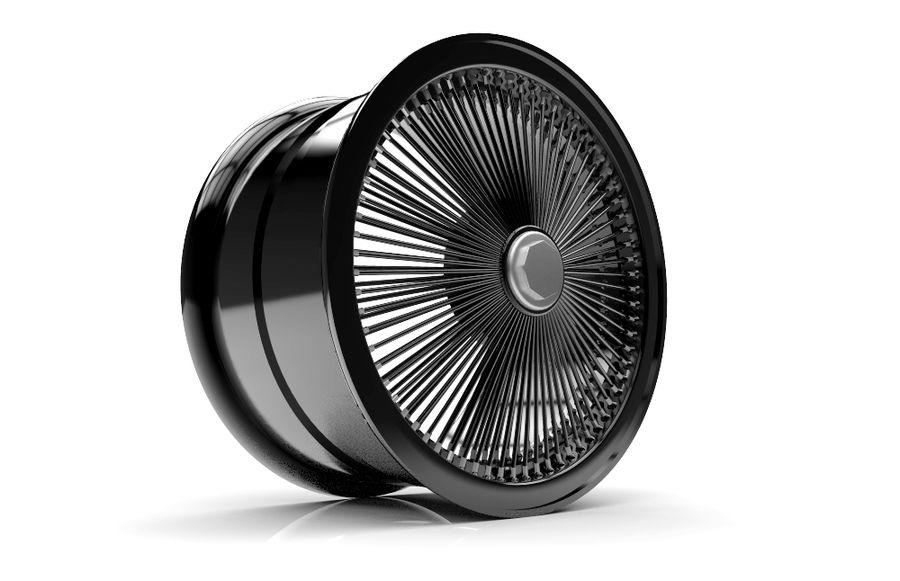 ブラックホイールデイトン royalty-free 3d model - Preview no. 2