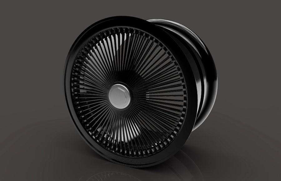 ブラックホイールデイトン royalty-free 3d model - Preview no. 7